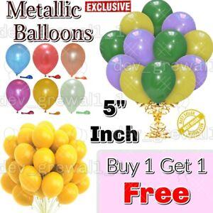 "Metallic Balloons 5""inch Birthday Arch Kit Wedding Baby Shower Party Ballons UK"