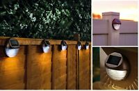 LED Solar Powered Fence Wall Lights Decking Door Garden Shed Patio Light Hobart