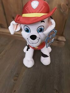 "Paw Patrol Plush Marshall Soft Toy 12"" Teddy Nickelodeon Brand New"