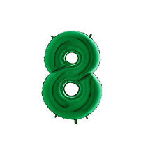 Giant Green Number '8' Balloon Decoration