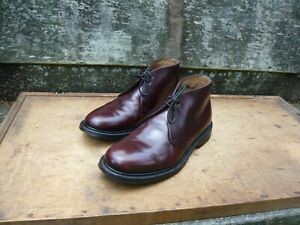 CHURCH'S CHUKKA BOOTS – BROWN / BURGUNDY – UK 8 – AYR – EXCELLENT CONDITION
