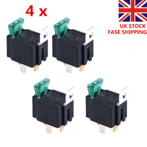 4 X 30A 12V CAR BOAT 4 PIN FUSE RELAY ON/OFF Fused Switch Spotlamps  Box Holder