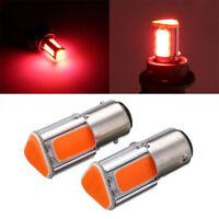 1 Pair Red 1157 BAY15D COB LED Car Reverse Backup Tail Stop Brake Light Bulb 12V
