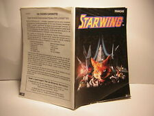 Super nintendo STARWING   :manuel ,instruction, notice ,manual