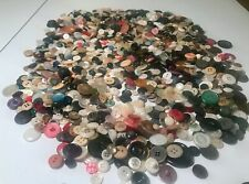 Lot Vintage Estate Buttons 10 + Pound Assortment of Colors & Sizes Crafts Sewing