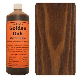 Littlefair's Water Based Eco Friendly Wood Stain / Wood Dye - Golden Oak
