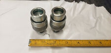 2 Piece Enerpac Power Team Male Pump Cylinder Screw On Quick Coupler End 38npt