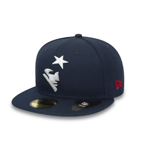 New Era 59FIFTY NFL new England Patriots Team Tonal Navy Flat Peak Fitted Cap