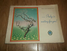 """PROF. G.DE. AGOSTINI """" ITALY IS WAITING FOR YOU """" ITALIAN GUIDE BOOKLET VINTAGE"""