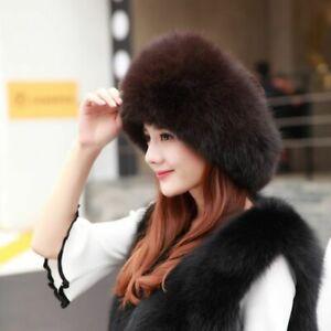 Winter Women Faux Fur Hat Fashion Russian Cap Thick Warm Beanies Fluffy 32544