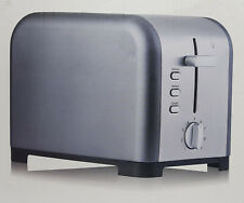 COSMIC GREY 2 SLICE TOASTER WIDE SLOT VARIABLE BROWNING DEFROST REHEAT  850W