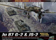 Academy 12539 1:72nd scale Spc edt twin pack Ju87G-2 Stuka & JS-2 Soviet Tank