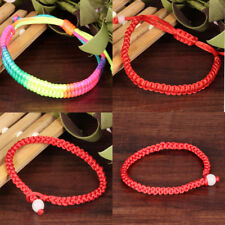 Unisex Red Lucky Rope Cord Adjustable Braided Bracelet Gift Jewelry Handmade