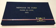 FDC TRES RARE COFFRET FLEUR DE COINS COMPLET DE 1975 @ AVEC 50 FRANCS HERCULE !