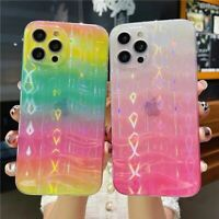 INS Dazzle Wave Pattern Phone Case Cover For iPhone 12 12Pro 11 Max X XR Xs 7 8