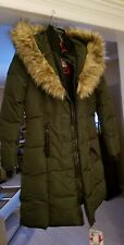 NWT Canada Weather Gear Women's Long Faux Down Goose Puffer Jacket Coat Size M