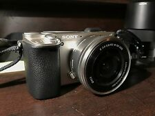 Sony Alpha a6000 Mirrorless Camera-Gray w/ Two Lenses Camera Bag &64gb Micro SD