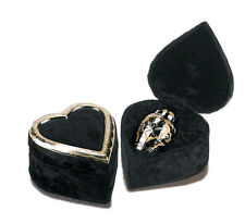 Keepsake 3 Cubic Ins Brass Funeral Cremation Urn for Ashes w/Velvet Heart Box