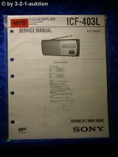 Sony Service Manual ICF 403L 3 Band Radio (#4675)