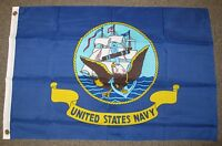U.S. NAVY FLAG 2X3 FEET  ARMED FORCES MILITARY USN 2'X3'  F704