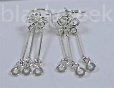925 Sterling Silver ~Infinity Symbols ~on Sticks~Chandelier Earrings~Dangle