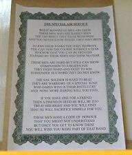 Special Air Service Poem.