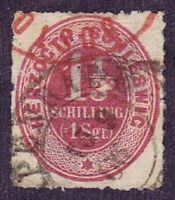 Schleswig-Holstein stamp #12, used, German State, SCV $60.00