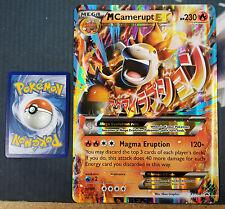 Pokemon OVERSIZED/JUMBO Mega M Camerupt XY198 Promo Card w/ Top Loader