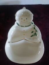 Festive Christmas Lenox For The Holidays Snowman Sweets divided dish