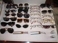 LARGE LOT OF 26 VINTAGE SUNGLASSES & EYE GLASSES - SEE PICS -