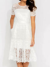 PORTMANS SIGNATURE Goddess Lace Dress New White Size 8 Tags SKU 563570