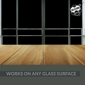 Blackout Tint Window Film Privacy Block Sun UV Protection Sleep Aid Static Cling
