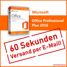 Key für Microsoft Office Professional Plus 2016 32/64 Bit Vollversion Deutsch