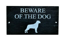 BEWARE OF THE DOG HOUSE DOOR SLATE GATE WALL PLAQUE SIGN ANY DOG BREED