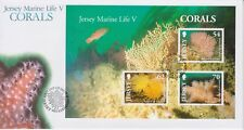 Unaddressed Jersey FDC First Day Cover 2004 Marine Life V Corals Sheet 10% off 5