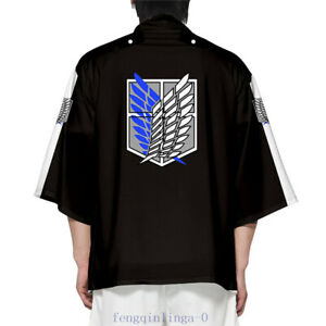 Attack on Titan: Anime Cardigan Cloak Scout Legion Logo Print Kimono Haori Coat