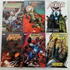 6X AVENGERS TPB LOT/NEW AVENGERS/YOUNG/WHAT IF ULTRON/G JOHNS/TRADE PAPERBACKS