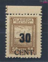 Memelgebiet 194 postfrisch 1923 Aushilfsausgabe (8731670