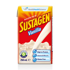 6 X Sustagen Ready to Drink 250ml - Vanilla Flavour Nutrition Top up
