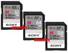 Sony 32GB 64GB 128GB SD SDHC SDXC Card UHS-II 4K U3 260MB/s W100MB/s SF-M