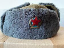 Hungarian Police Winter Fur Cap Redorseg Communist Cold War Hungary