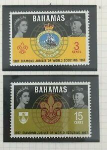 U0481 BAHAMAS 1967 Diamond jubilee of the world scouting  MNH