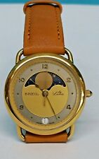 BREIL LA LUNA MOON FASE WATCH SWISS MADE FRENCH CASE, RARE