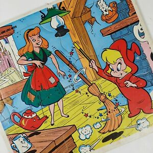 Wendy The Good Little Witch Picture Puzzle Tray Vintage Harvey Famous Cartoons