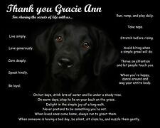 Black Lab Print/Picture/Wall Art-Personalized w/Name-Unique Pet Lover's Gift