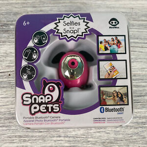 WowWee PINK SNAP PETS Selfies in a Snap! Portable Bluetooth Camera NEW Gift Idea
