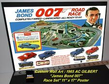 "Custom Wall Art - 1965 GILBERT ""James Bond 007"" Tribute 17W x 11T Hi QA POSTER"