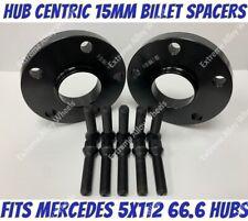 M14X1.5 Nero BULLONI MERCEDES 5X112 RUOTA IN LEGA NERO Distanziatori 10 mm 72.6-66.6