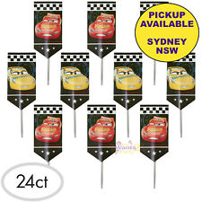 DISNEY CARS 3 PARTY SUPPLIES 24 WILTON CUPCAKE BIRTHDAY CAKE PICKS TOPPERS