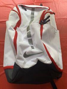 nike unisex hoops elite pro basketball backpack. White/ Navy / Red